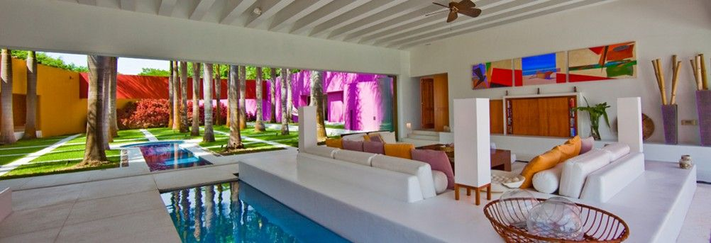 Ever wanted a pool in your living room? Now you can while you vacation at Casa Roja