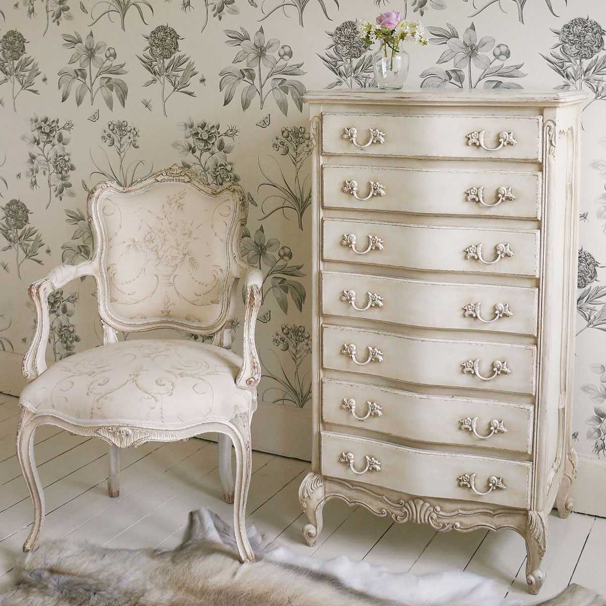 Distressed Bedroom Sets Bedroom Cupboards With Mirror Sliding Doors Bedroom Colour As Per Vastu Shabby Chic Bedroom Sets: Delphine Distressed Shabby Chic White Tallboy Chest