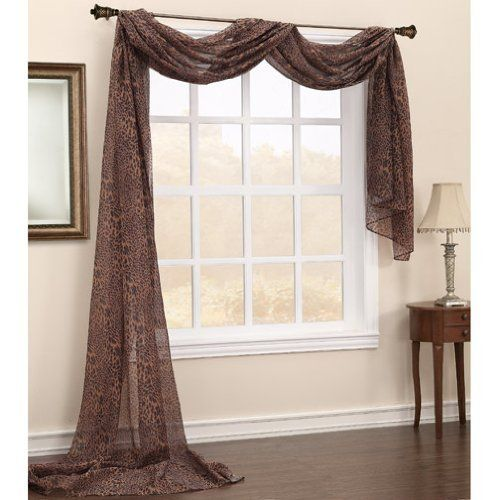 A Cute Look Leopard Sheer Curtains 59 Inches Wide By 216 Long