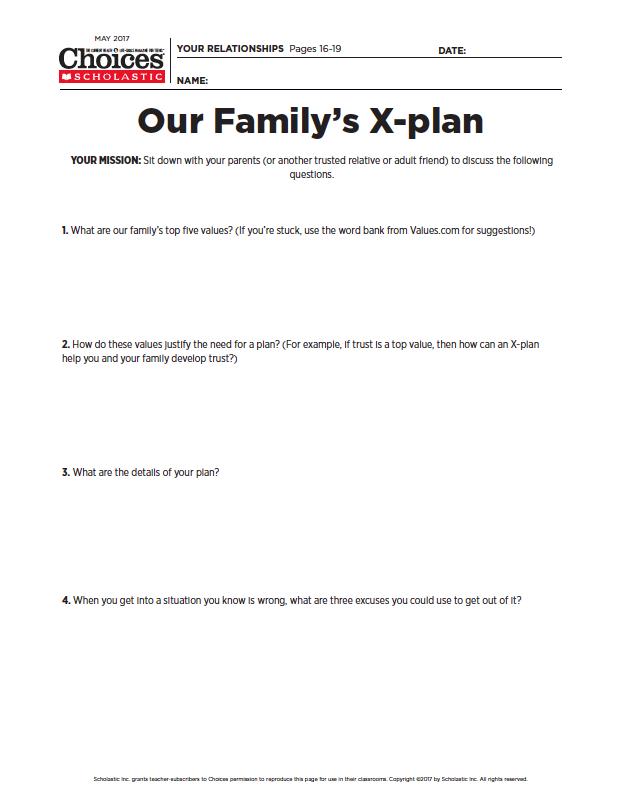 Help Teens Escape From Peer Pressure Peer Pressure Worksheets And
