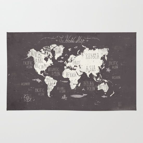 The+World+Map+Rug+by+Mike+Koubou+-+$2800 Kids rooms Pinterest - new world map cad free
