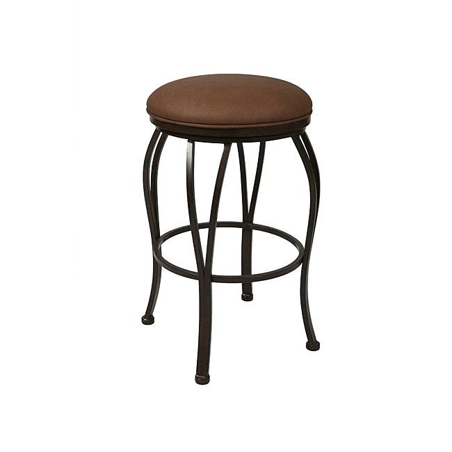 The Metal Backless Swivel Counter Stool Is A Beautifully