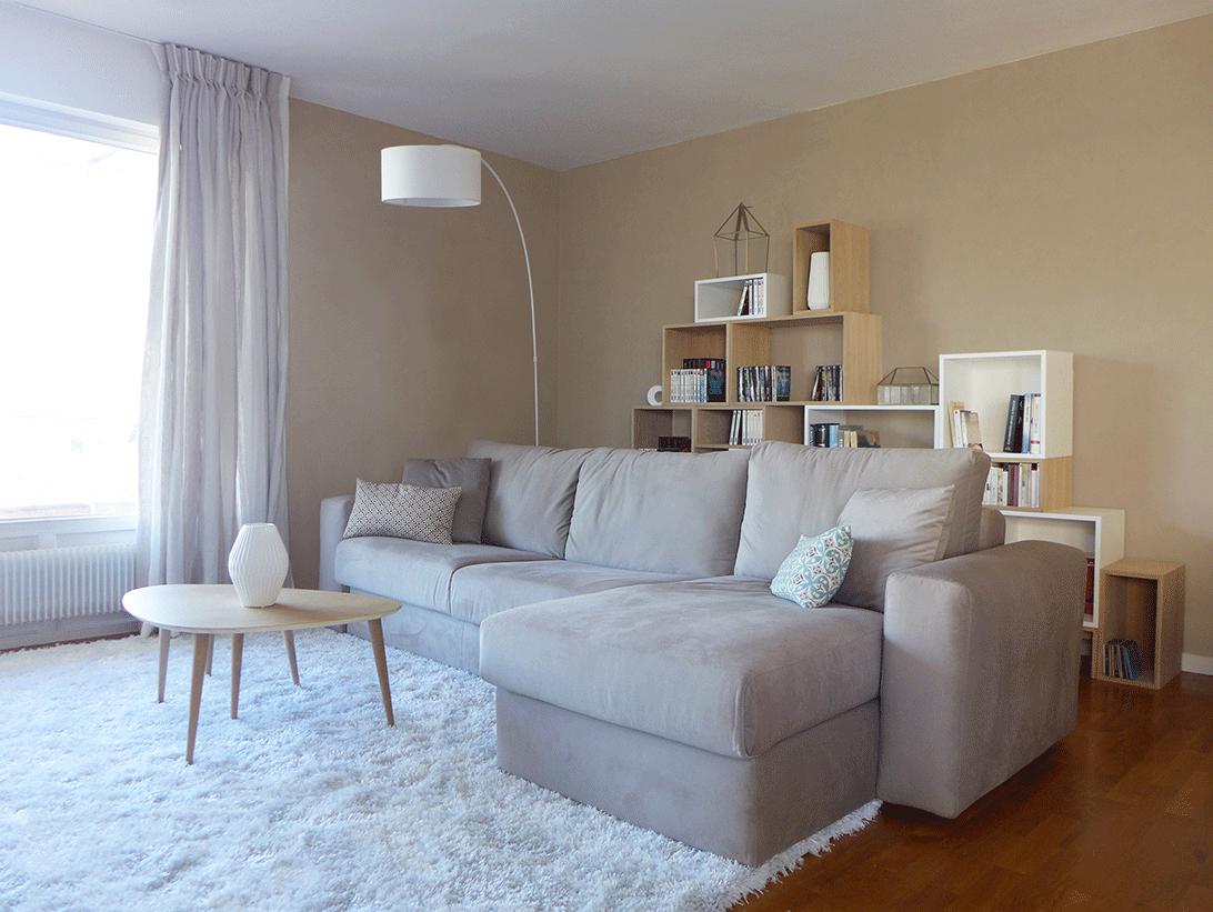 Agence sk a design d 39 espace architecture d 39 int rieur et d coration - Salon blanc et taupe ...