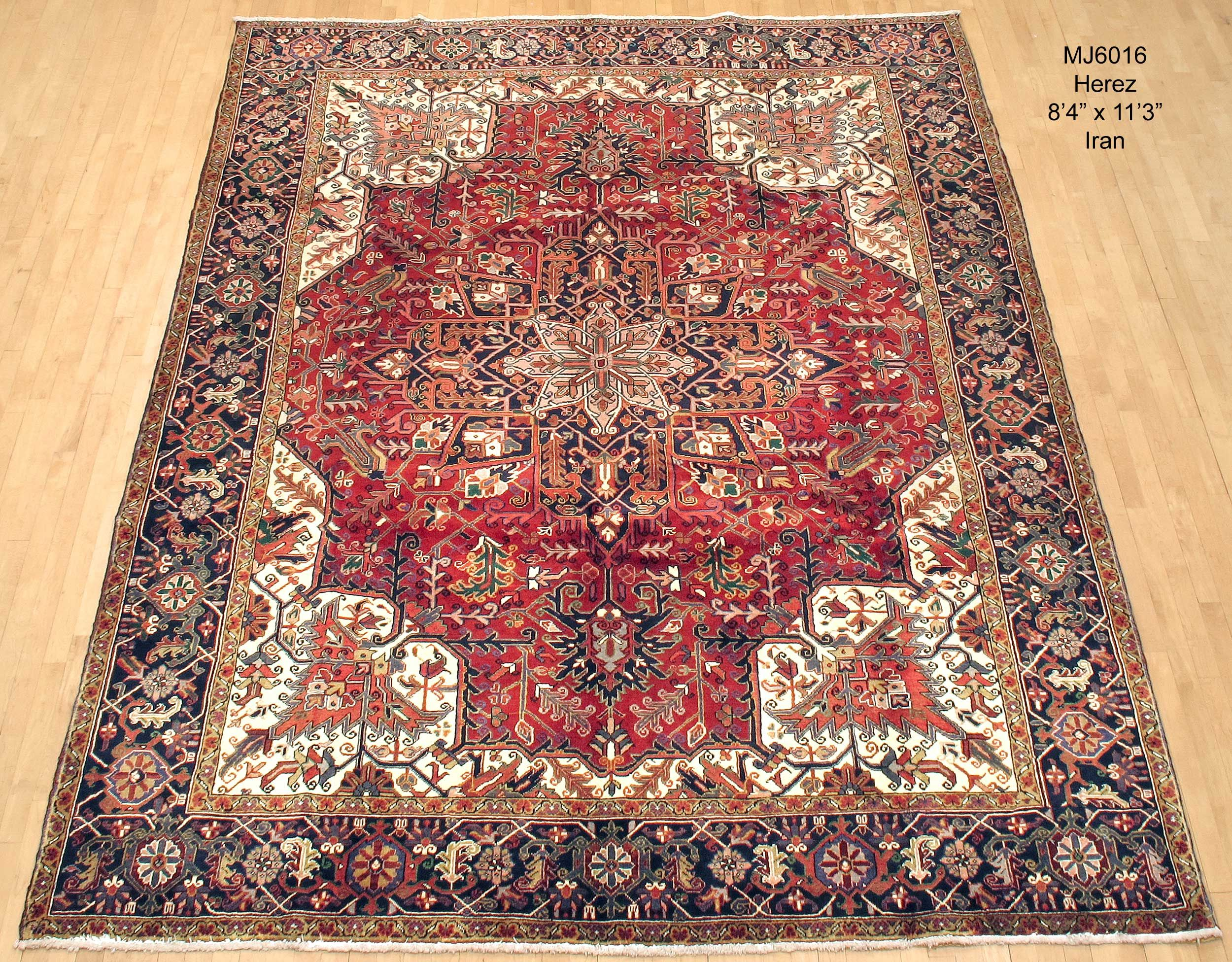 Mj6016 Herez From Iran 8 4 X 11 3 Persian Carpet Bohemian Rug Carpet