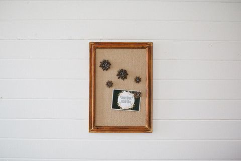 Framed Burlap Board