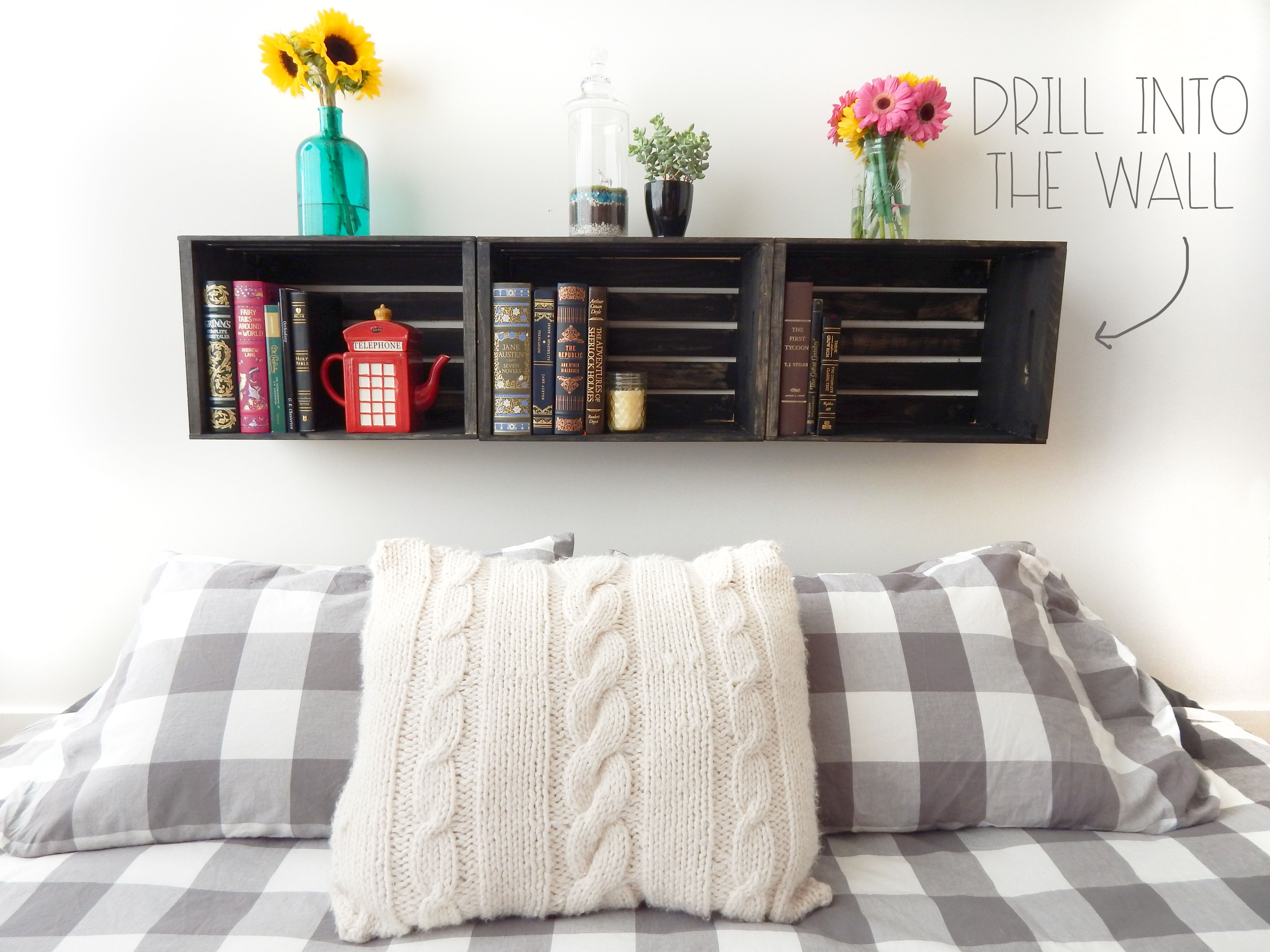 Build A Diy Floating Night Stand With A Double X Pattern Using A