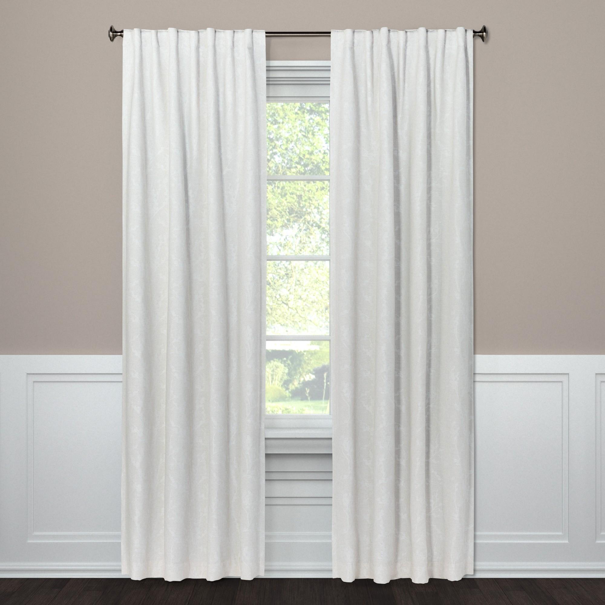 Blackout Curtain Panel Edalene Almond Cream 108 Threshold