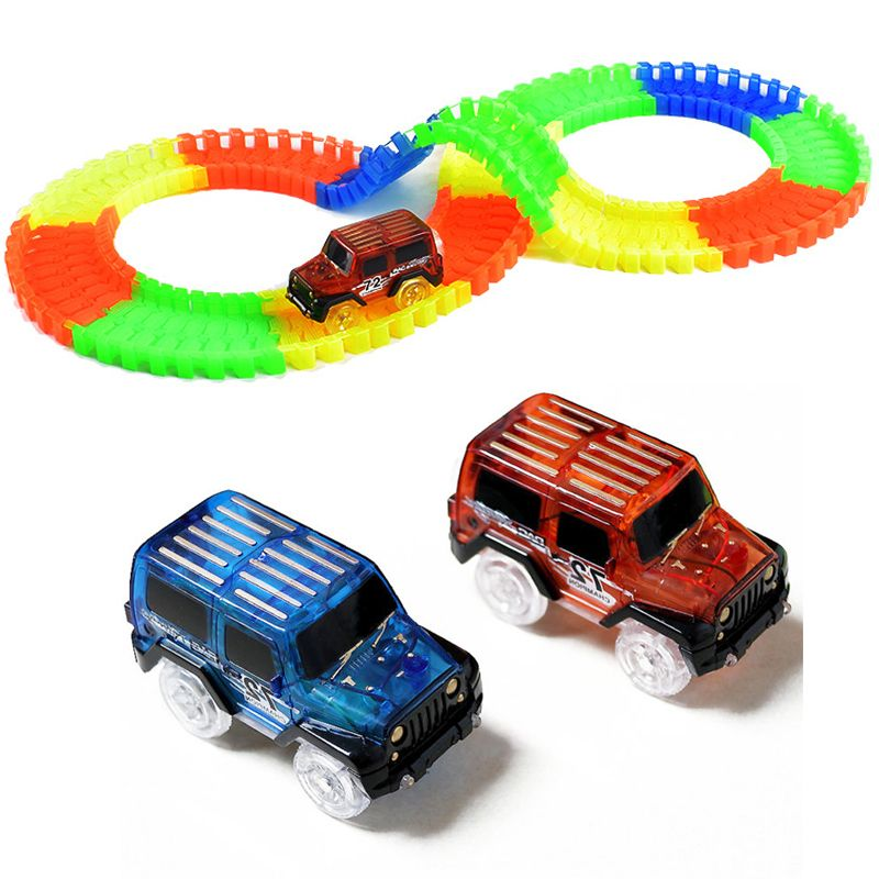 Click To Buy 165 240 Glow Track Led Car Magic Tracks Railcar Plastic Bend Flex Diy Racing Track Glow In The Dark Creat Toy Car Creative Toy Diy Puzzles