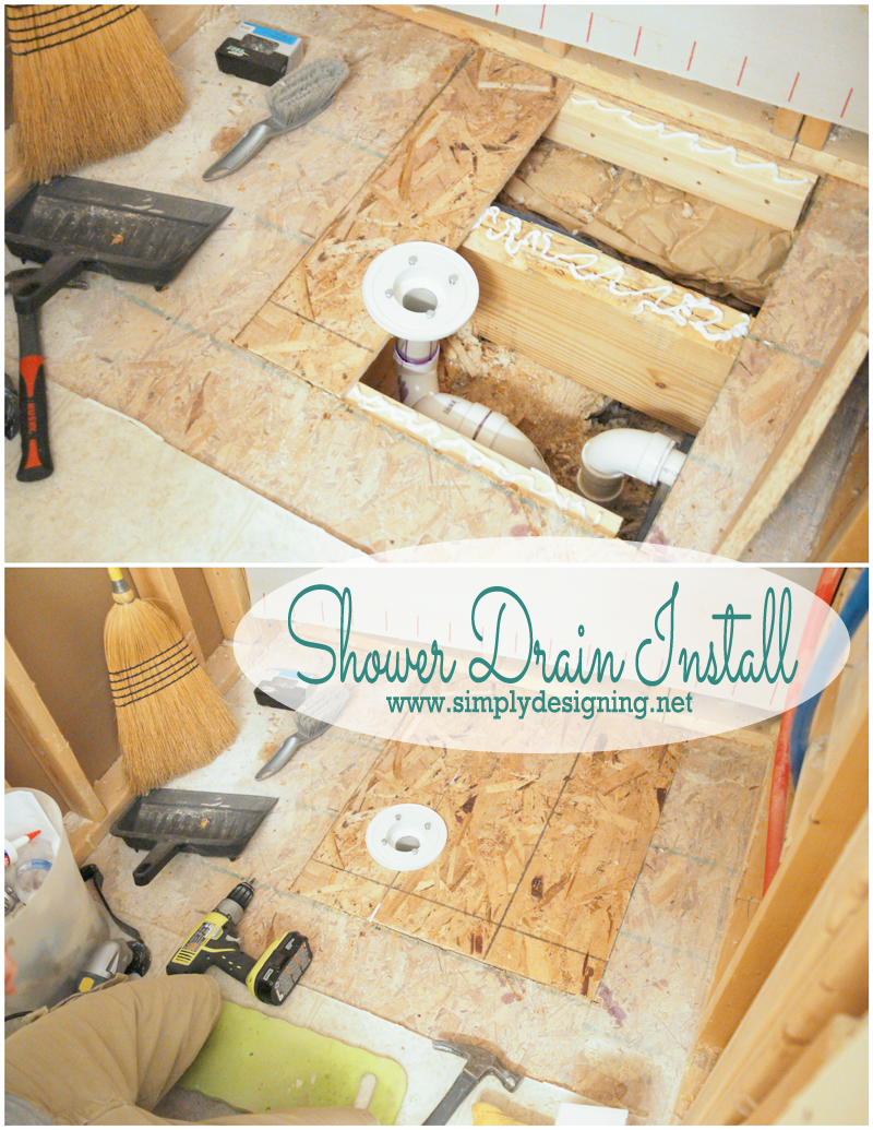 How To Install A New Shower Drain (post Also Includes Links To Demoing And  Planning