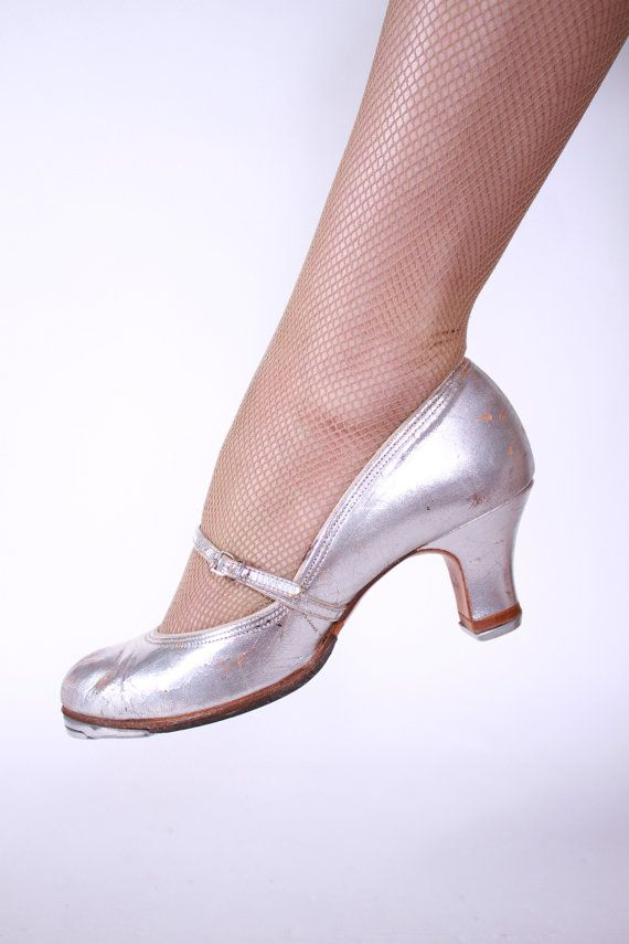 Silver Heeled Tap Shoes