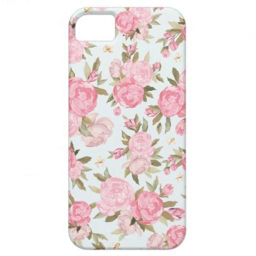 Elegant Girly Floral Vintage Case iPhone 5 Cases