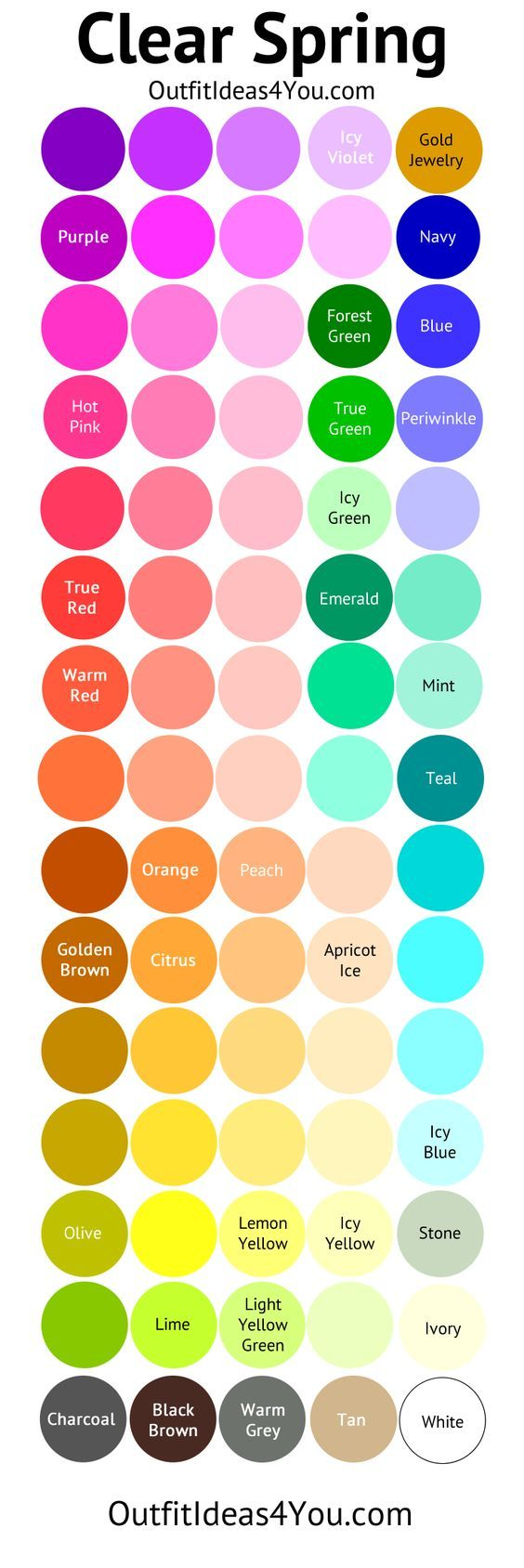 Bright Warm & Light Color Palette | Seasonal Colors | Spring