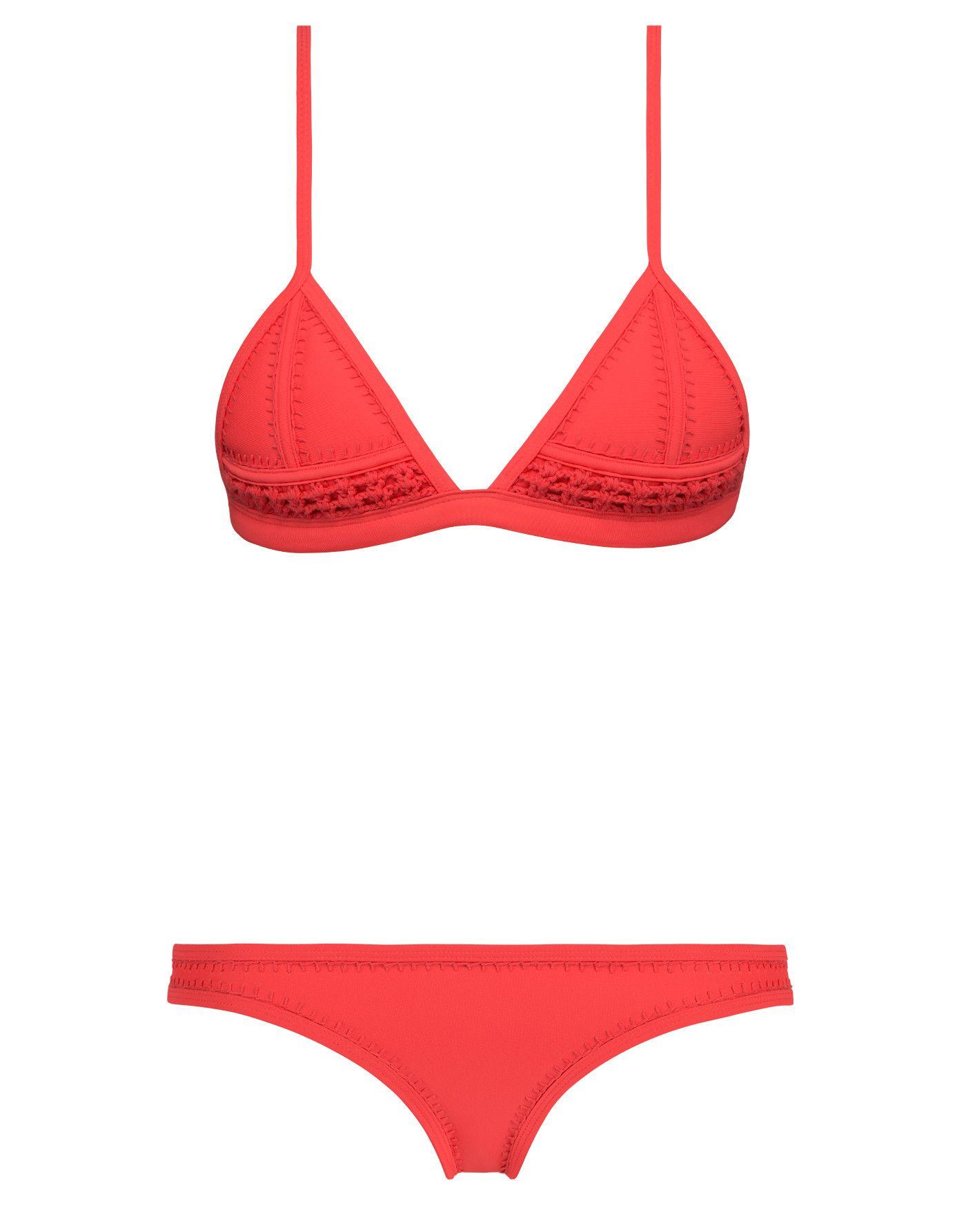 339a698afa GIGI - RED VELVET - TOP Red Triangle Bikini, Red Bikini, Bikini Triangl,