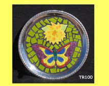 Silver Mosaic Handmade Tray Great for your Home TR100