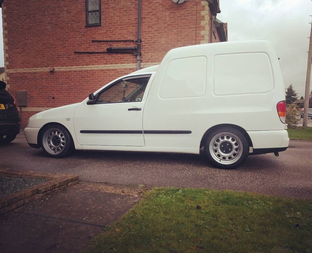 White Vw Caddy Mk2 On Corrado Steelies Volkswagen Caddy