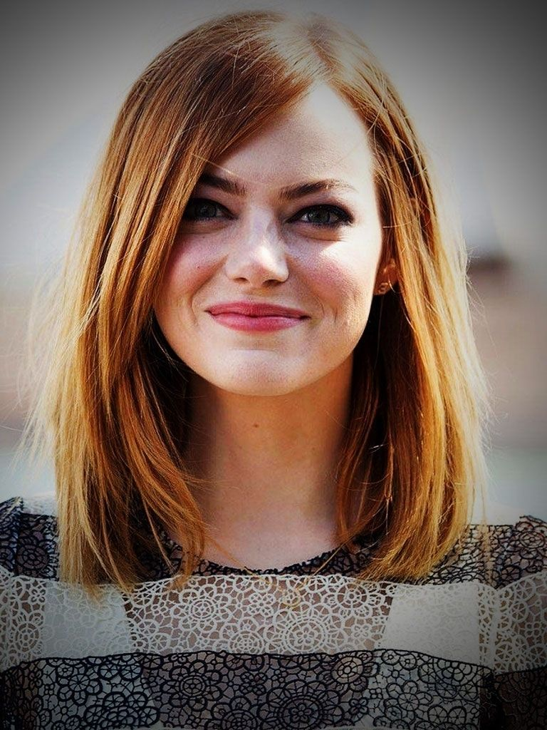 Image Result For Hairstyle Long Straight Hair Round Face Makeup