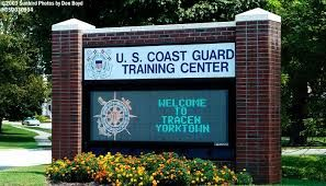 The US Coast Guard Training Center in Yorktown, Virginia is one of four major Coast Guard training facilities in the United States.