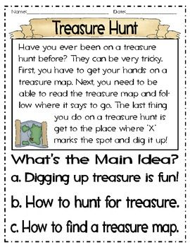 Main Idea With Pirates Reading Comprehension Lessons Reading Comprehension For Kids Teach Like A Pirate