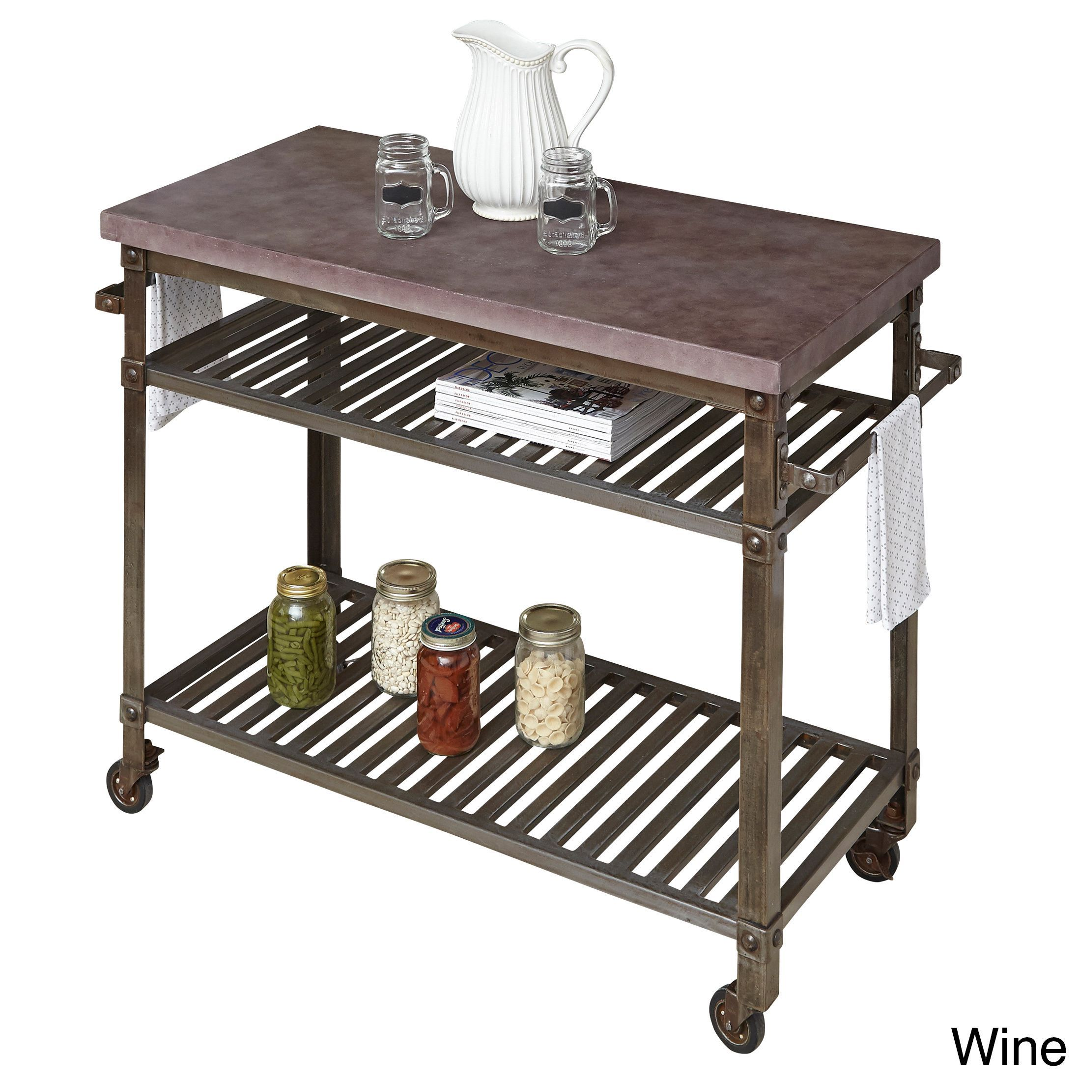 Home Styles Urban Style Kitchen Cart | Overstock.com Shopping   The Best  Deals On