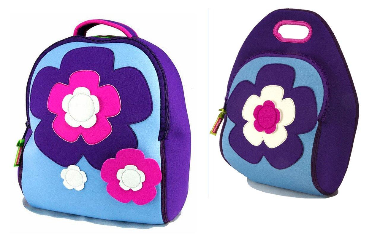 Dabbawalla Flower Kids Backpack Lunch Bag Set