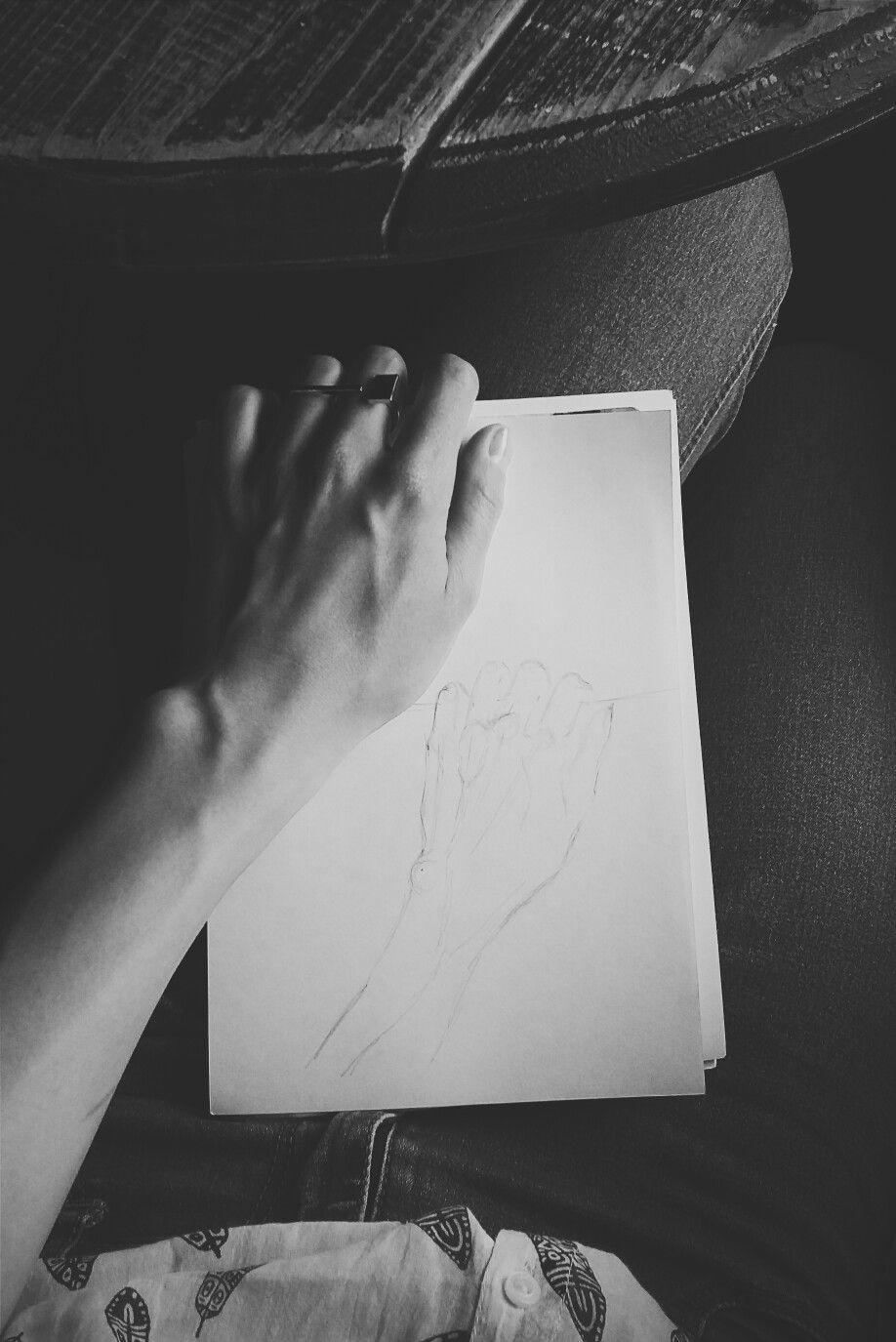 #art #hand #monochrome #inspiration