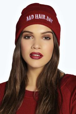 Cara Bad Hair Day Slogan Beanie. Get thrilling discounts up to 60% Off at Boohoo using Coupon & Promo Codes