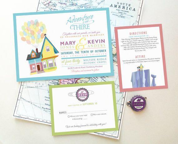 Design Fee - Wedding Invitation Set featuring Carl and Ellie\'s ...