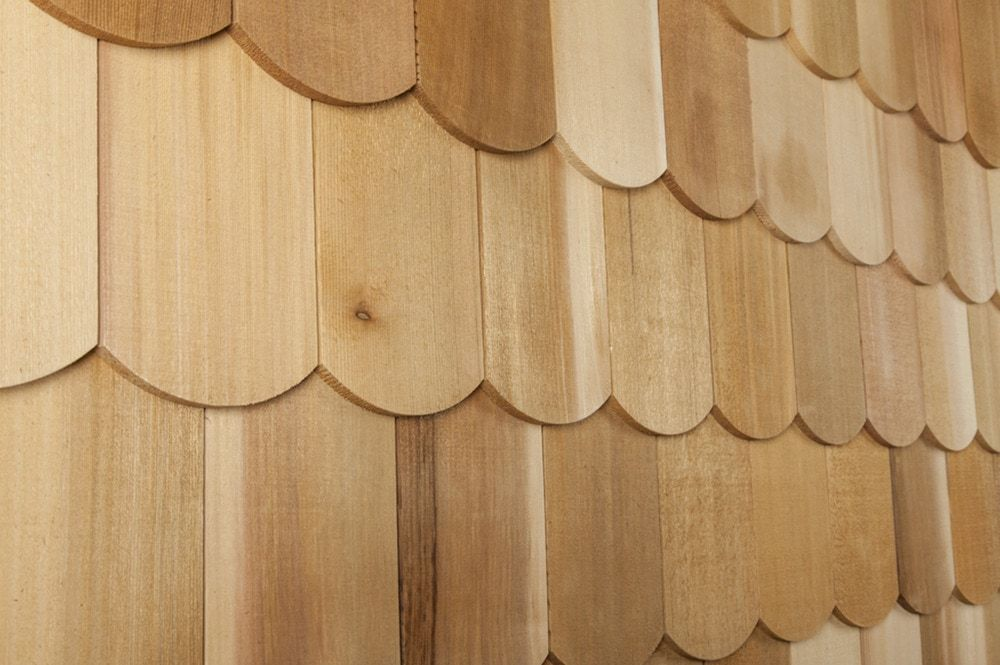 Cedar Decorator Shingles Wide Fishscale 4 15 16 X 17 1 2 Builddirect Wood Roof Wood Siding