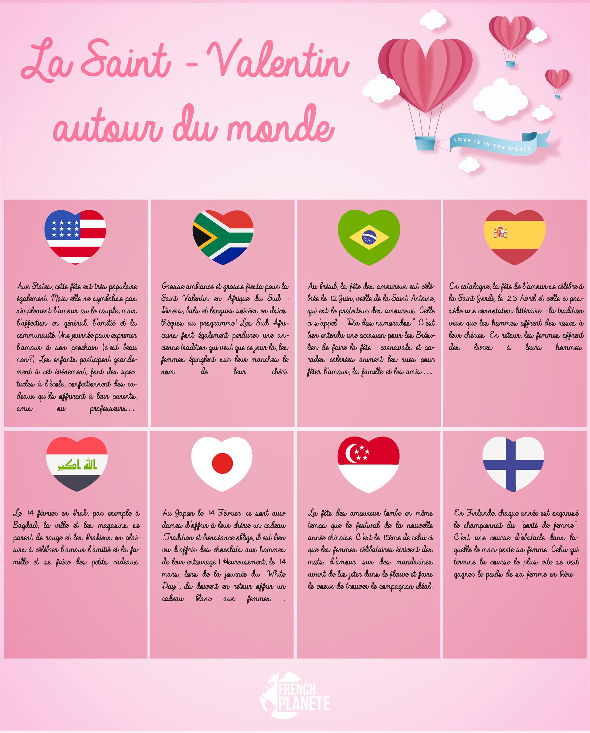 Carla Eljarat Infographie French Lessons Saint Valentine Teaching