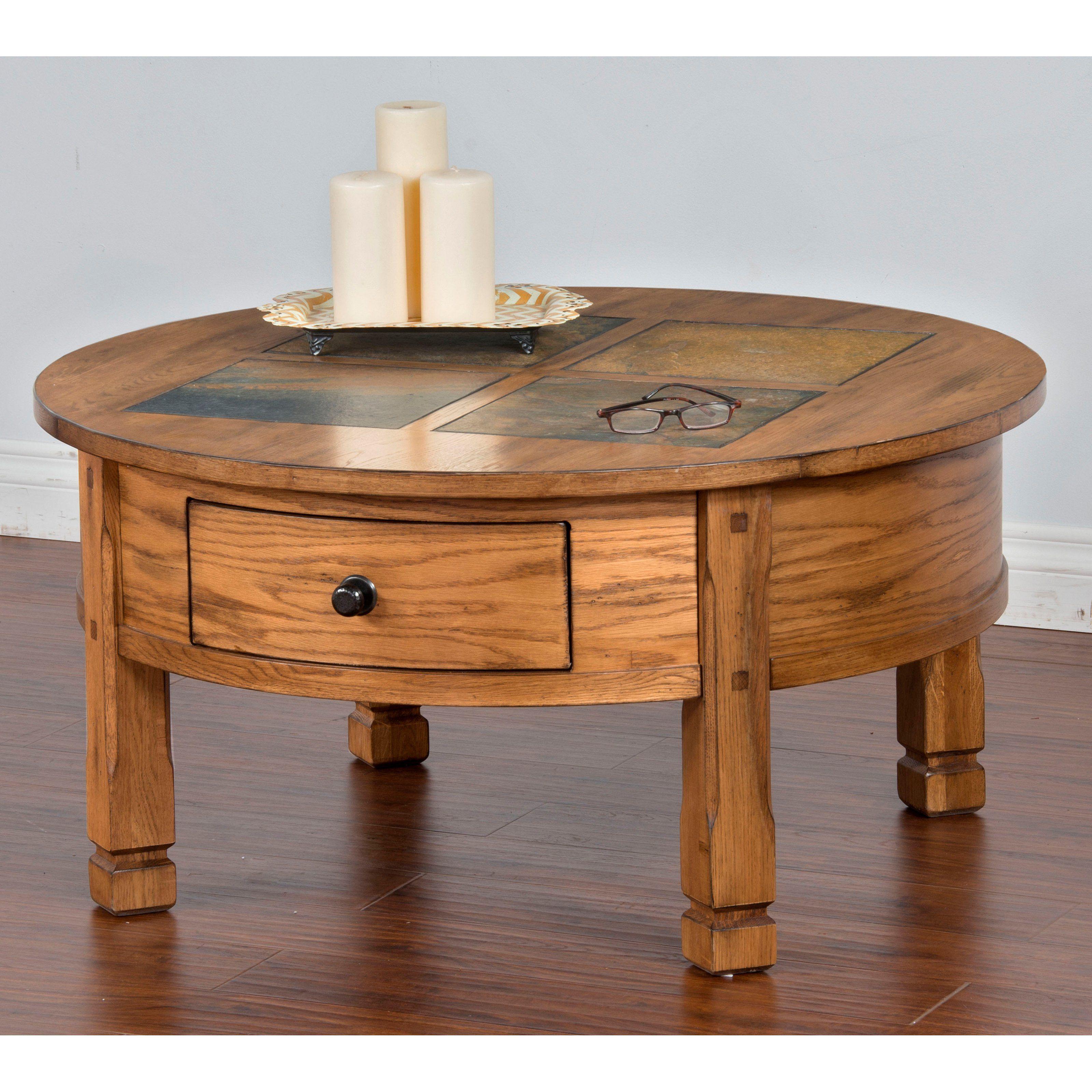 Sunny Designs Sedona Slate Round Coffee Table