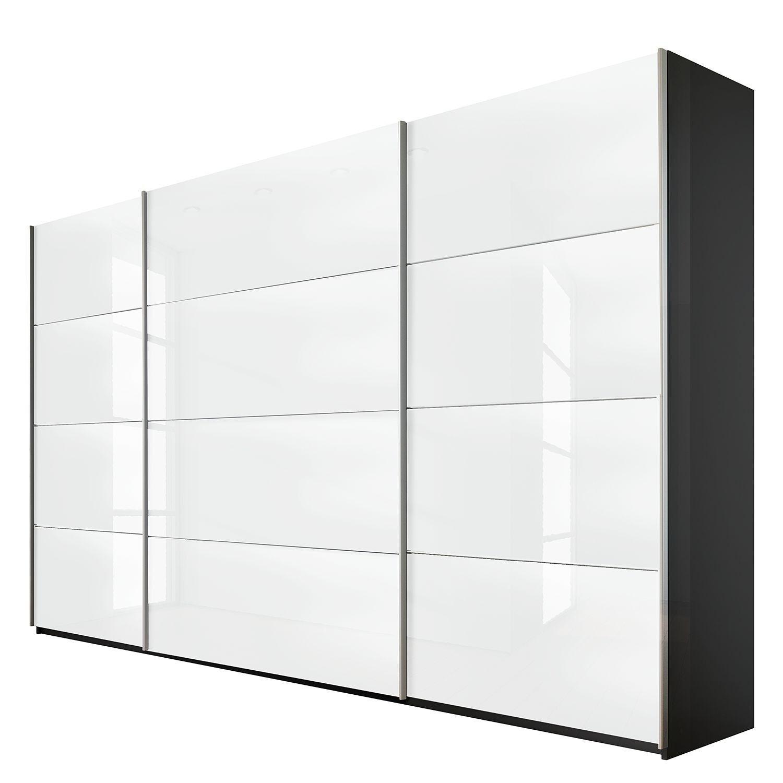 Armoire Design 3 Portes Coulissantes 315 Verre Teinte Blanc Luxia