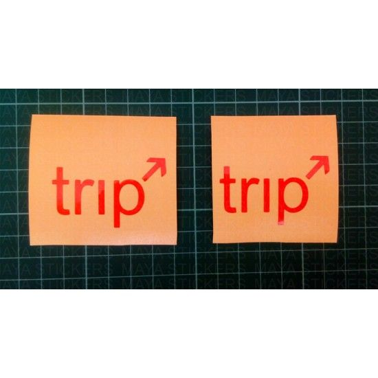 Small orange trip stickers for royal enfield