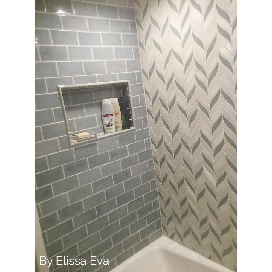 Nabi Arctic Blue 3x6 Ceramic Tile | TileBar.com Plumb kit backsplash ...