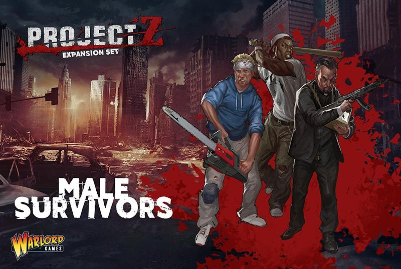 The 'Male Survivors' Expansion Set contains 10 male survivors and includes a weapons options sprue for even more variety.