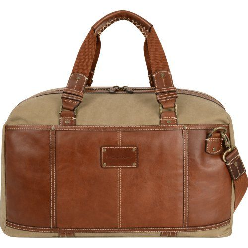 Tommy Bahama Luggage Casual Duffle Bag KhakiCognac One Size >>> Want additional info? Click on the image.