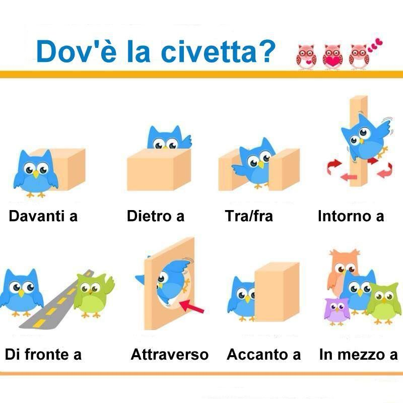 English In Italian: Le Posizioni Nello Spazio