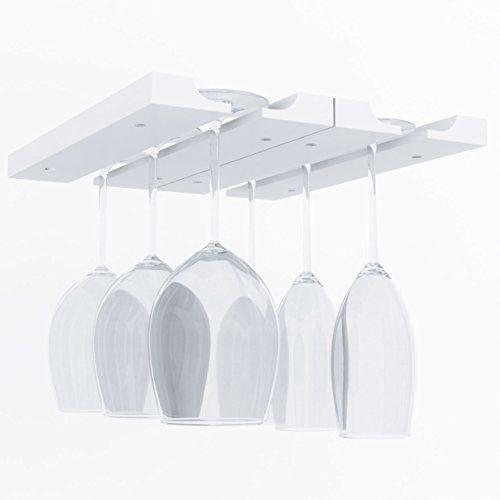 Hanging Under Cabinet Stemware Wine, Under Cabinet Wine Glass Holder Wood
