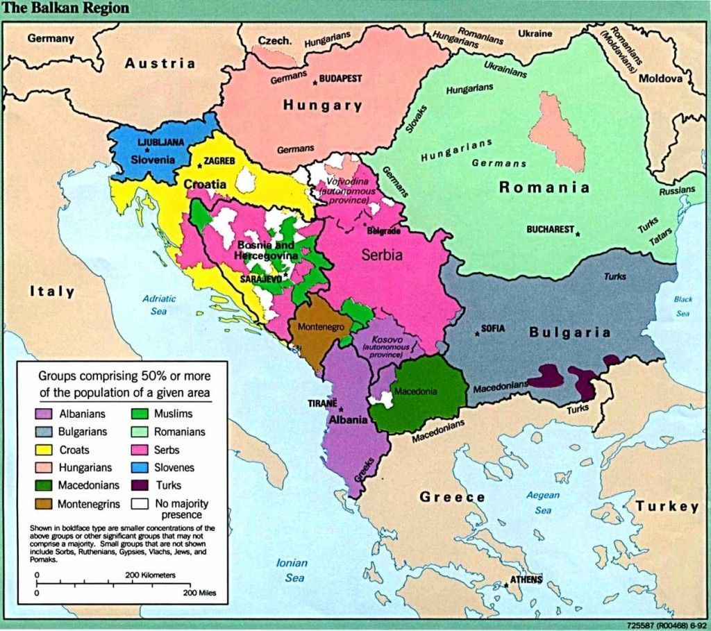 Modern Map Of The Balkans Note The Many Ethnic Groups New - Prominent us ethnic group map