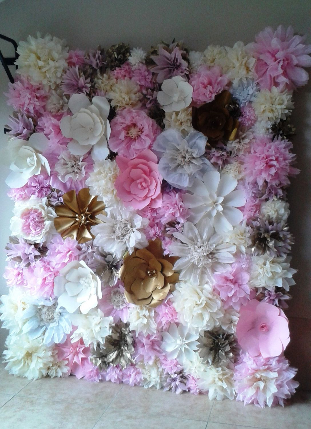 Tissue Paper Flower Backdrop 7 By Perfectonpapercrafts On Etsy