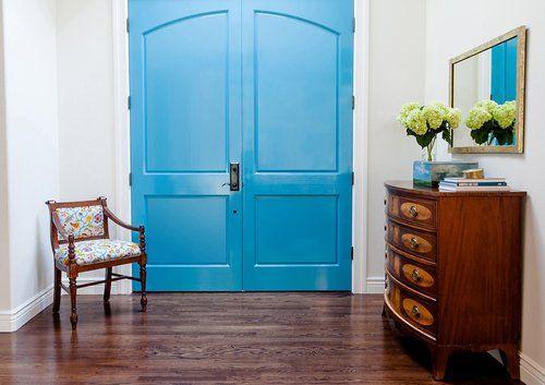 reupholstered antique chair in raoul textiles pondicherry fabric wth restored antique dresser designed by elizabeth cooper interior design