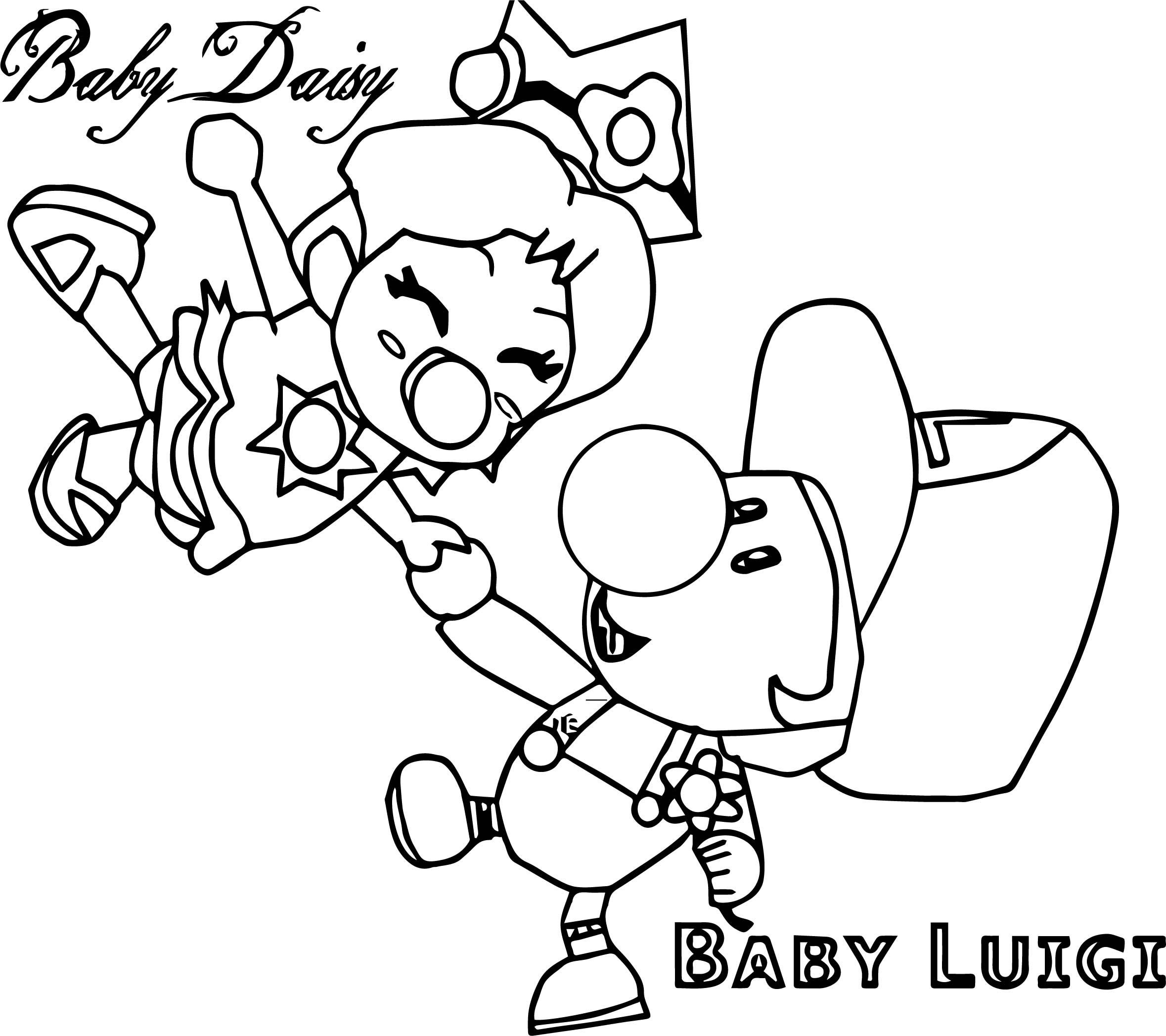 Nice Baby Daisy Baby Luigi Coloring Page Toy Story Coloring Pages Minion Coloring Pages Baby Daisy