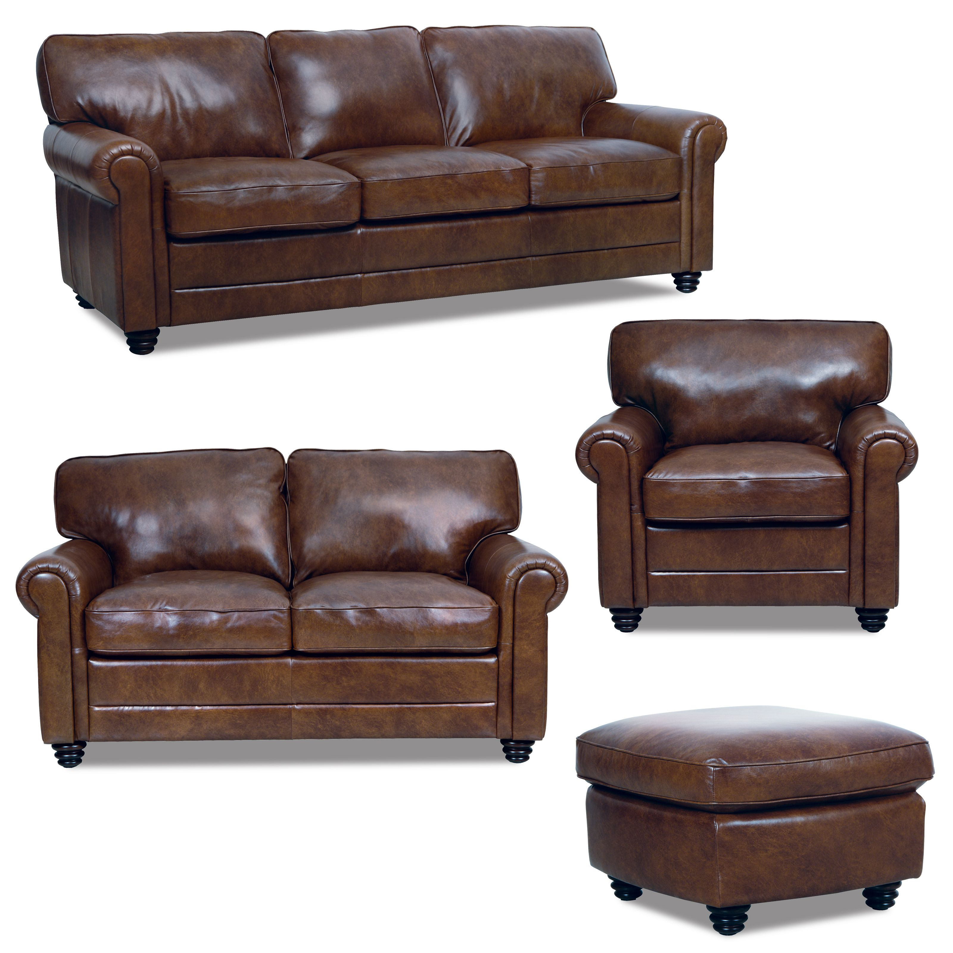 Andrew 4pc Set From Luke In Havana Leather Couch Loveseat Leather Sofa Couch Love Seat