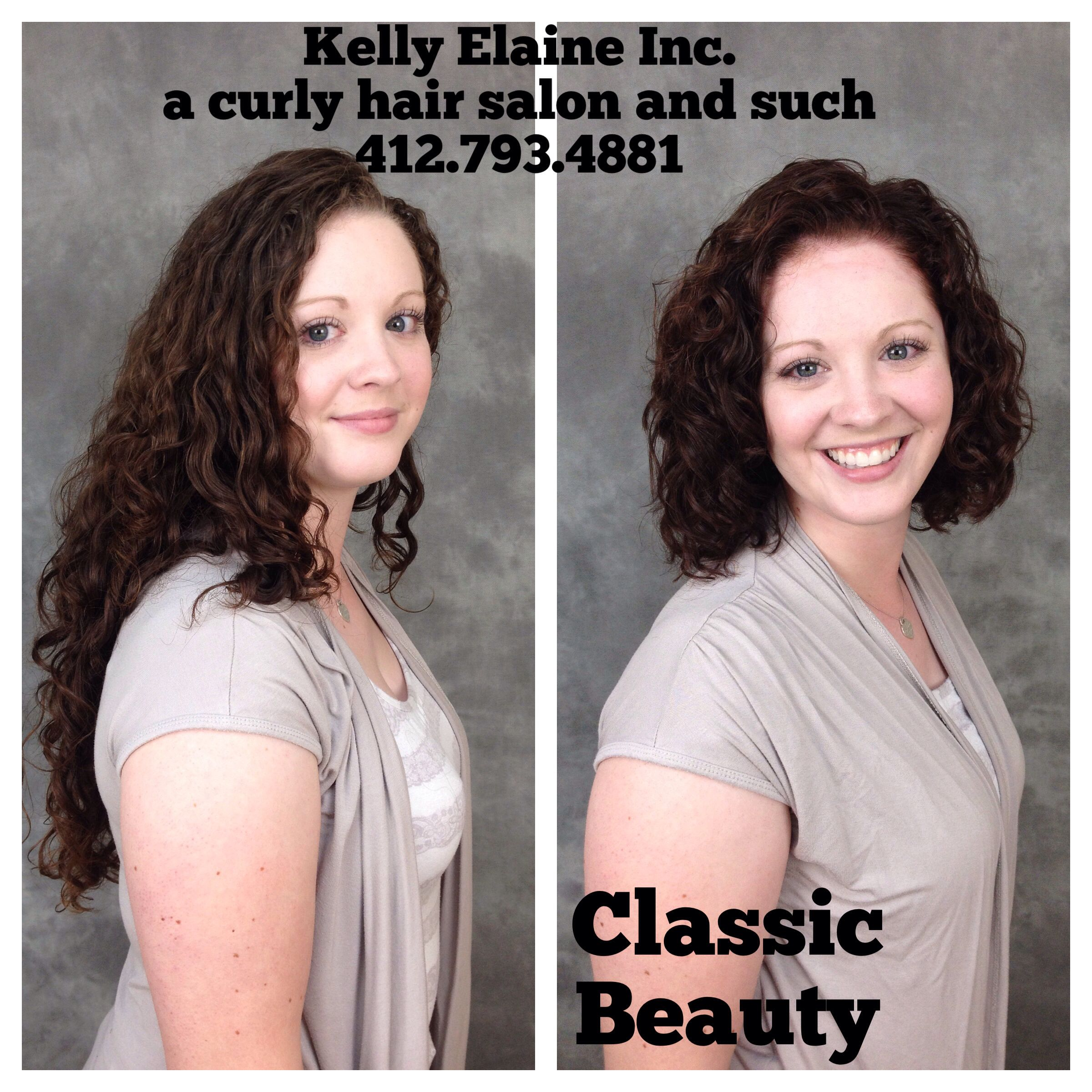 Medium Curly Hair Makeover. Kelly Elaine Inc. a curly hair