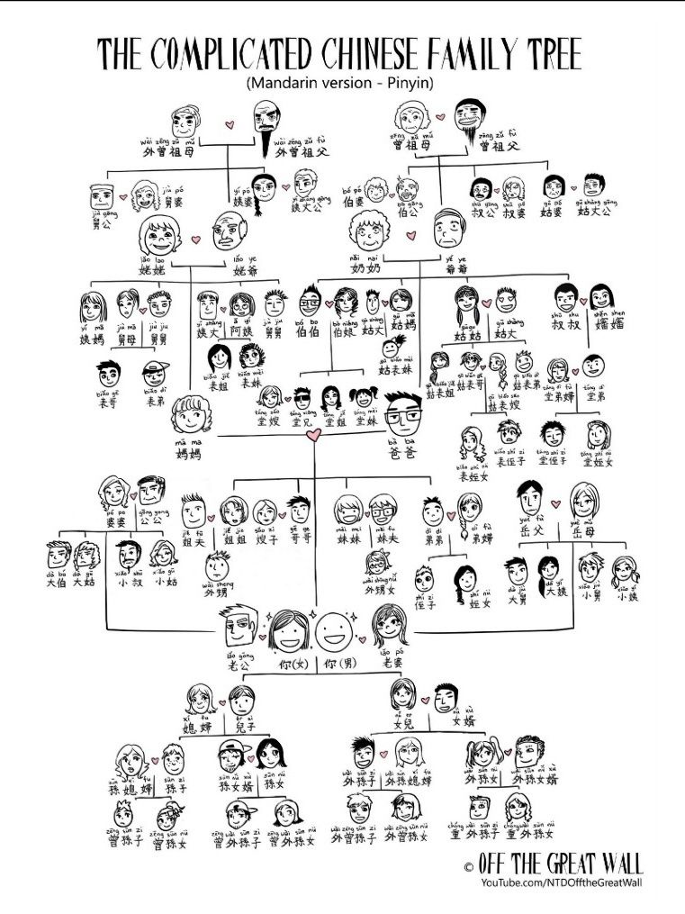 The Complicated Chinese Family Tree Via Off The Great Wall