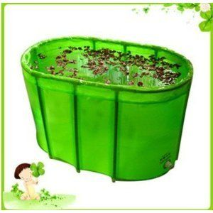 Wholesale Green double folding bathtub / bath tub /with cover and ...