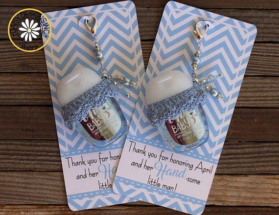 Mermaid Baby Shower Favor Label Hand Sanitizer Favor Label Hand