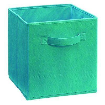 Closetmaid 8657 Fabric Drawer Aqua Fabric Storage Bins Fabric Drawers Fabric Bins