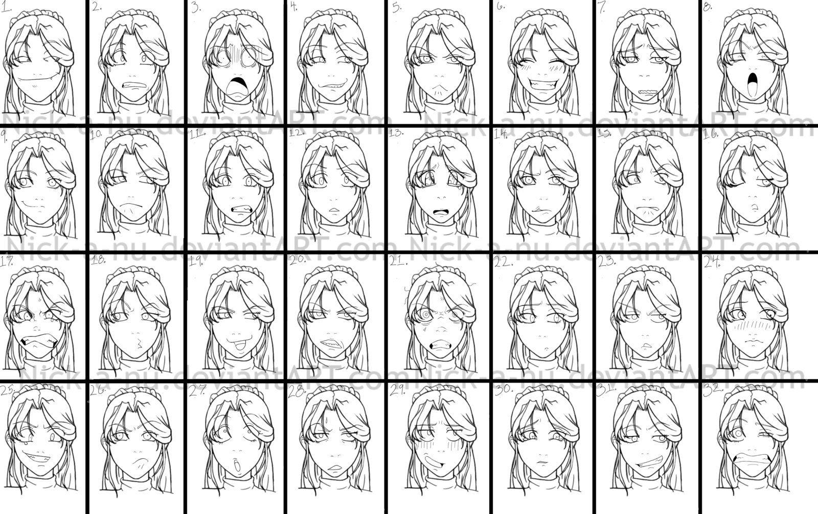 Ayla facial expressions by nickanu on deviantART