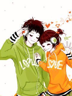 I Wish Cute Couple Art Cute Anime Wallpaper Cartoons Love