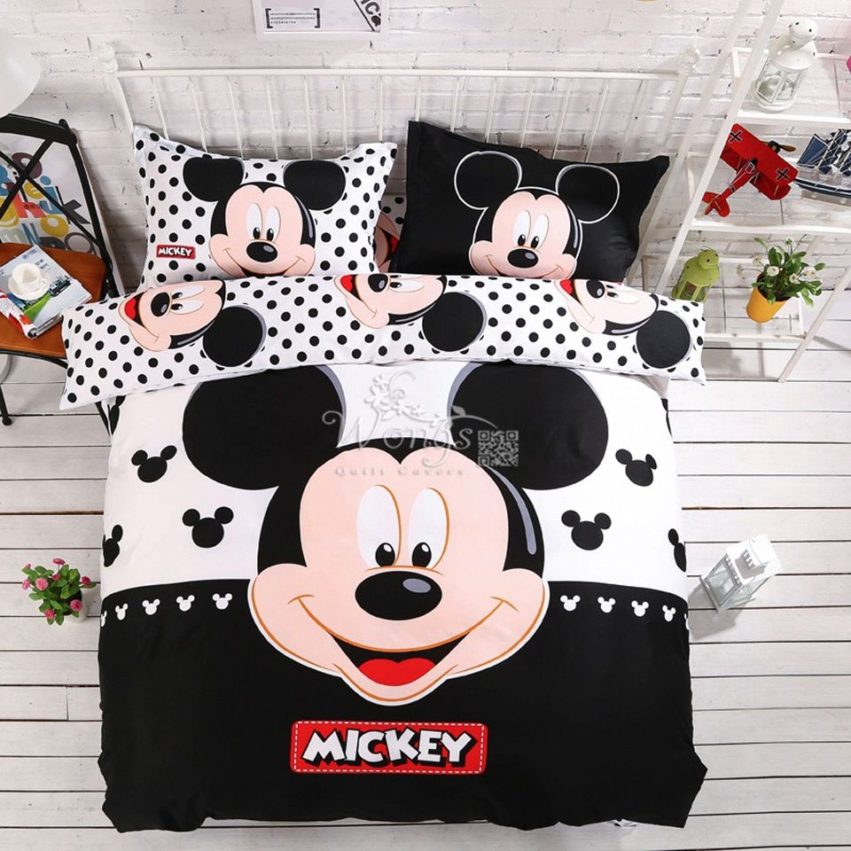 Minnie Mouse Bedding Sets Promotion Shop For Promotional Minnie Mouse Bedding Sets On Aliexpress Co Mickey Mouse Bedding Mickey Mouse Room Minnie Mouse Bedding